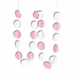 ピンクと白/球体が連なったガーランド