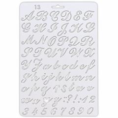 筆記体の英字テンプレート