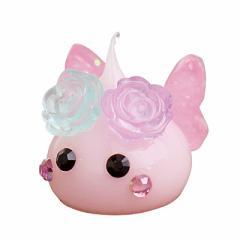 ピンク/バラ付ちょうちょミニほっぺちゃんオブジェ