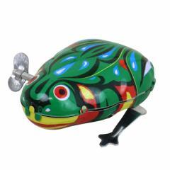 緑/ぴょんぴょん跳ねるカエルのオブジェ