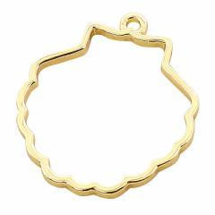 金色/シェル型フレームパーツ