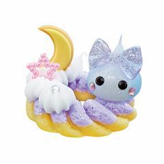 ラメ水色&白/紫ドーナツ乗りほっぺちゃんオブジェ