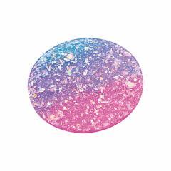 ピンク紫水色/オーロララメ丸型じゅうたんオブジェ