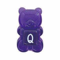 Q/クリア紫くまグミ風もじもじパーツ