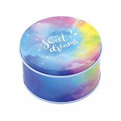 星&グラデーション空柄の英字ロゴ入缶ケース