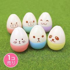 顔文字風プリント卵型カラーペン/1個売り