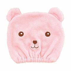 ピンク/クマのヘアキャップ