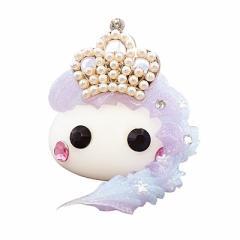 ラメ紫&青/王冠付プリンセスメガほっぺオブジェ