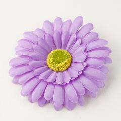 紫/大きめフラワーのヘアクリップ