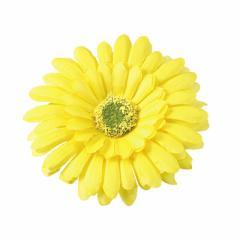 黄色/大きめフラワーのヘアクリップ