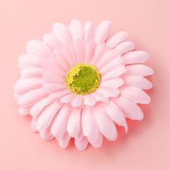 ピンク/大きめフラワーのヘアクリップ