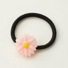 ピンク/マーガレット風お花ヘアゴム