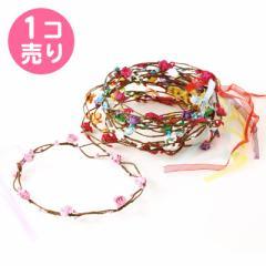 シフォン素材のリボン付き花冠/1個売り