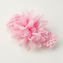 ピンク/大きなお花付ベビーキッズ用ヘアバンド