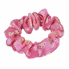 ピンク/和風小花柄ミニシュシュ