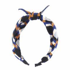 紺&黒&橙/モダンなカチューシャ