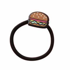 茶/ハンバーガーのヘアゴム