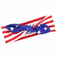 アメリカ国旗柄/太幅ベビーヘアバンド
