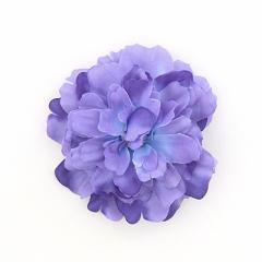 紫/お花のヘアクリップ