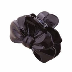 黒/シンプルリボン型ワニクリップ