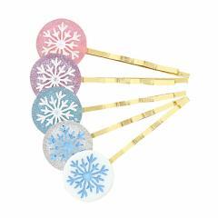 ラウンドモチーフ雪の結晶ヘアピン/1個売り