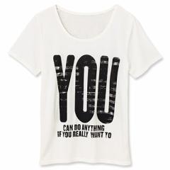 白/ビッグロゴプリントTシャツ/150cm