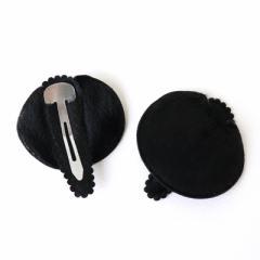 クマ/ブラック/アニマル耳のパッチンピン