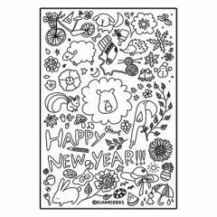 1枚売り 手描イラスト/年賀状用ポストカード