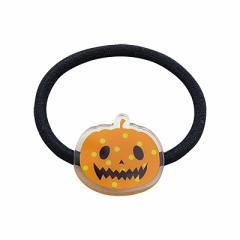 ハロウィンかぼちゃのおばけプレートヘアゴム