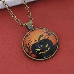 ぷっくりかぼちゃおばけのネックレス