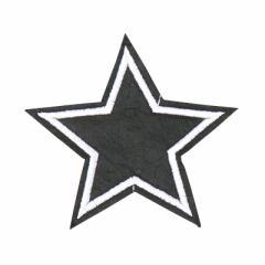 黒/星/アイロンワッペン