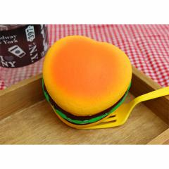ハート型ハンバーガーのむにむにオブジェ