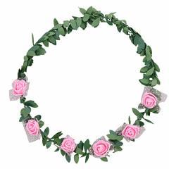 ピンク/ツタつき花冠