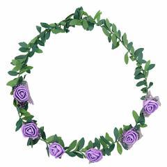 紫色/ツタつき花冠