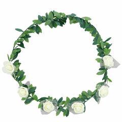 アイボリー/ツタつき花冠