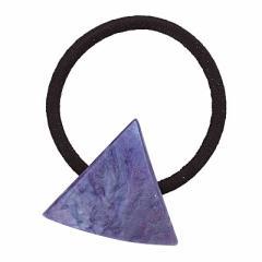 青系/ラメ入りグラデーション三角形ヘアゴム