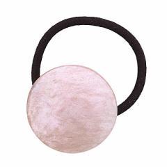 ピンク系/ラメ入りグラデーション丸形ヘアゴム
