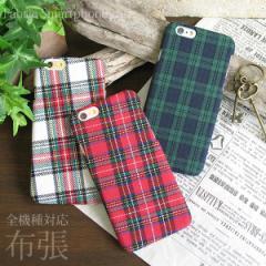 全機種対応 布張り ケース ゆうパケ送料無料 iPhoneXs XR SOV39 SHV42 SO-01L チェック柄 nu018