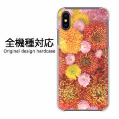 スマホケース プリント 全機種対応 カバー ハード iPhoneXs SOV39 SHV43 Pixel3 キク(A)/pc-m913