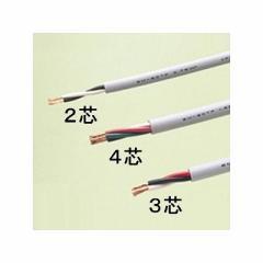 富士電線 エコ電線(耐燃性ポリエチレンキャブタイヤコード) 2心 1.25m  100m巻き 灰色 EM-ECTF1.25×2C×100m