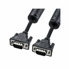 サンワサプライ ナイロンメッシュディスプレイケーブル アナログRGB ストレート全結線 フェライトコア付 1.5m ブラック KC-NMV15K