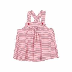 【メール便/送料無料】 ベビー服 オーガニックコットン Girls Babydoll Top(ベビードール トップ) (Rouge Stripe(ルー