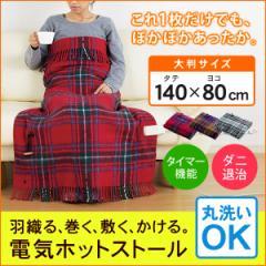 電気ホットストール 電気毛布 電気ひざ掛け毛布 掛け 敷き ツインバード DM-4884 羽織る 巻く 敷く かける4WAY 電気ストール