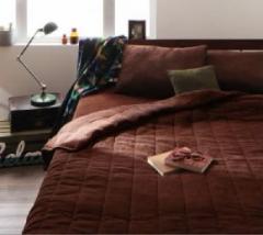 2色から選べる!365日気持ちいい!コットンタオル ケット・パッド キルトケット・ベッド用ボックスシーツセット (幅サイズ ダブル)(カラ