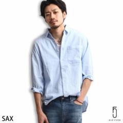 【16800-1】カジュアルシャツ メンズ/シャツ ビッグシルエット オーバーサイズ レギュラーカラー パナマ織り 半端袖 ドロップショルダー