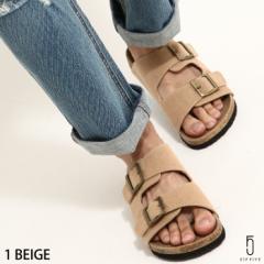 【771316-br】コンフォートサンダル メンズ/夏 夏物 サンダル 靴 コルク 黒 ベージュ ブラウン キャメル