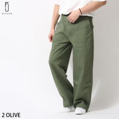 【br8056】パンツ メンズ/ベイカーパンツ ワークパンツ ロングパンツ バイオウォッシュ 綿ツイル 無地 ワイドシルエット