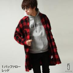 【zp317107】ネルシャツ メンズ/チェックシャツ チェック柄 レギュラーカラー ビッグシルエット コットンシャツ
