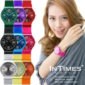 1249225185 INTIMES(インタイムス)シチズン製ムーブ搭載!40.5mm 軽量 カラフル 洗練 デザイン メンズ/レディース 腕時計 IT088