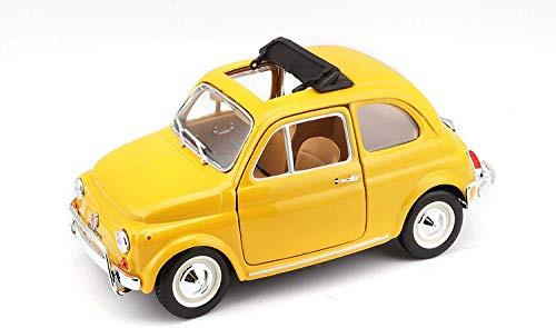 yellow FIAT 500 L 1968 Bburago 1:24